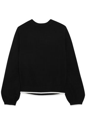 VICTOR GLEMAUD Tie-back cotton and cashmere-blend sweater