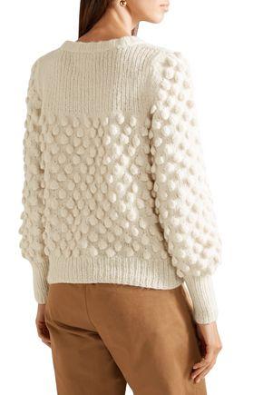 ELEVEN SIX Camilla pompom-embellished alpaca-blend sweater
