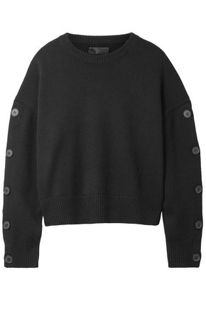 NILI LOTAN Martina button-detailed wool and cashmere-blend sweater