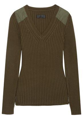NILI LOTAN Peyton ribbed cotton and cashmere-blend sweater