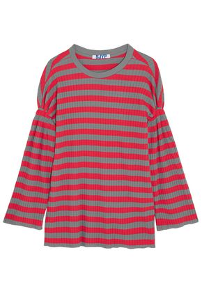 SJYP Striped ribbed cotton top