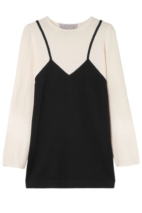 VICTOR GLEMAUD Intarsia cotton and cashmere-blend mini dress