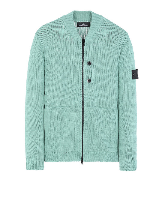 STONE ISLAND SHADOW PROJECT Cardigan 504A3 BOMBER JACKET (HEMP/COTTON BLEND)