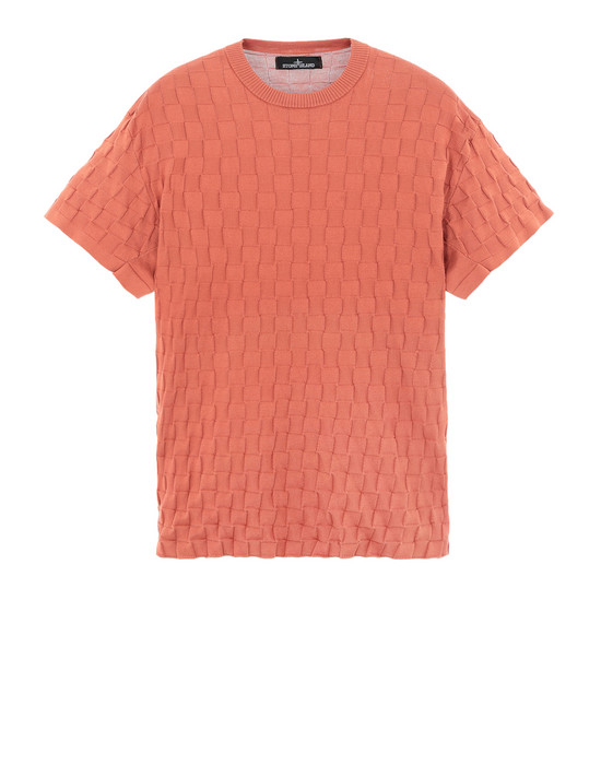 STONE ISLAND SHADOW PROJECT 半袖ニット 507A1 CHECKERED T-SHIRT (SOFT COTTON)
