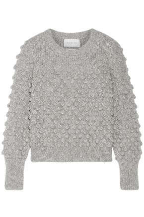 ELEVEN SIX Camilla pompom-embellished alpaca-blend sweater