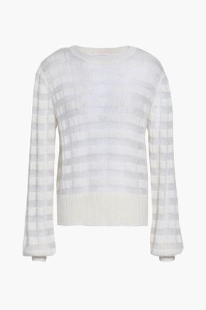 SEE BY CHLOÉ Striped open-knit sweater