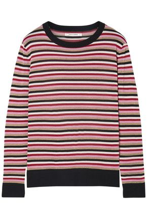 CHINTI AND PARKER Metallic striped wool-blend sweater
