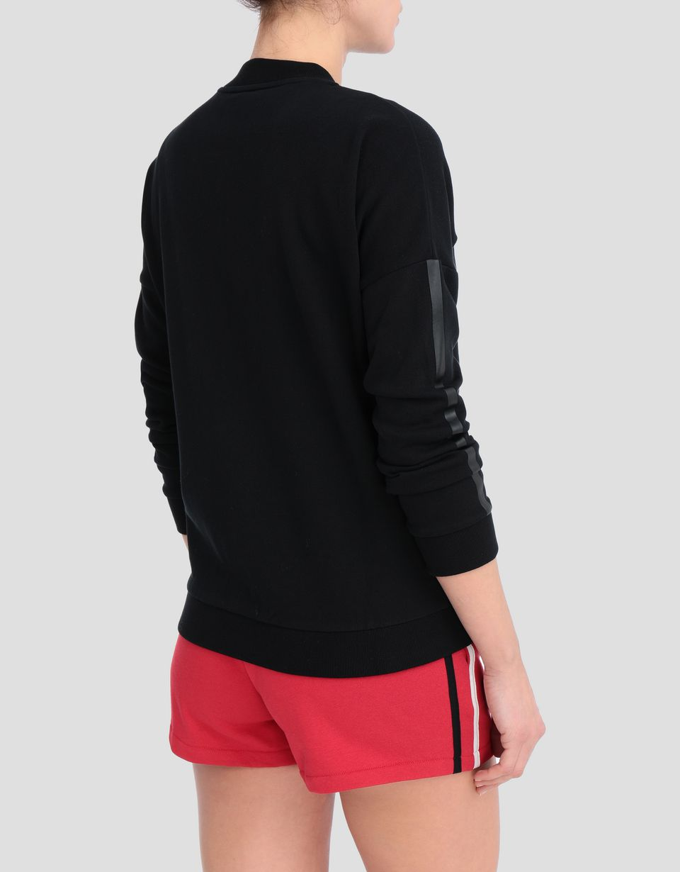 Scuderia Ferrari Online Store - Women's full zipper sweatshirt with sleeve print - Zip Sweaters