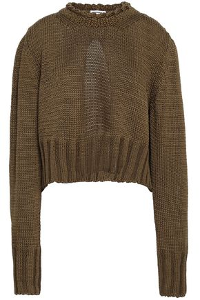 JIL SANDER Cutout cotton sweater