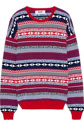 MSGM Cotton-jacquard sweater
