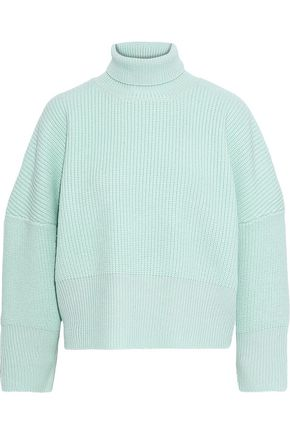 PAPER London Celilia ribbed wool turtleneck sweater