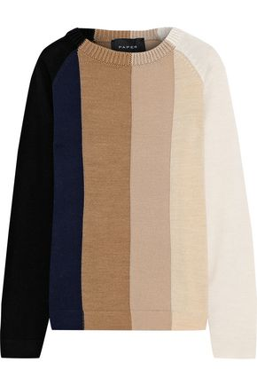 PAPER London Montana color-block wool sweater