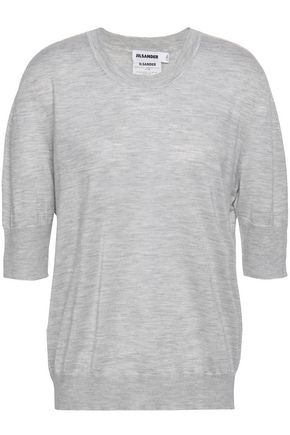 JIL SANDER Cashmere and silk-blend top