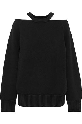 JASON WU Cold-shoulder wool-blend sweater