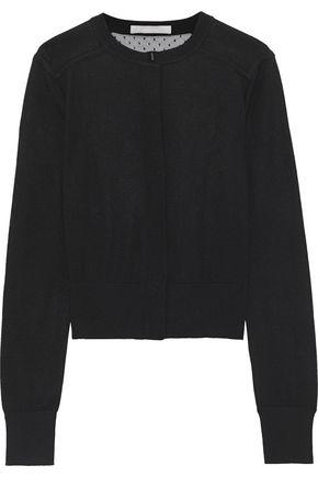 JASON WU Point d'esprit-paneled wool-blend cardigan