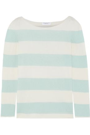 MAJESTIC FILATURES Striped cotton and cashmere-blend sweater
