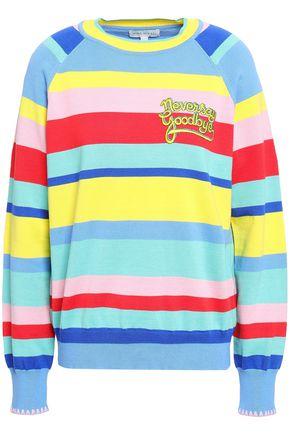 MIRA MIKATI Embroidered striped cotton sweater