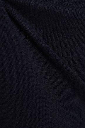 JIL SANDER Lace-up cutout cashmere sweater