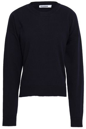 JIL SANDER Lace-up cutout cashmere sweater
