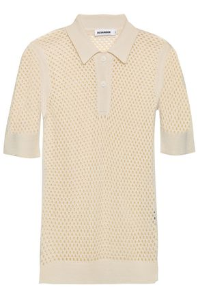 JIL SANDER Crocheted silk top