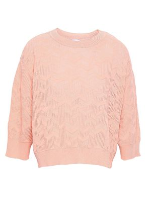 M MISSONI Pointelle-knit cotton-blend sweater