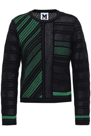 M MISSONI Pointelle and jacquard-knit sweater
