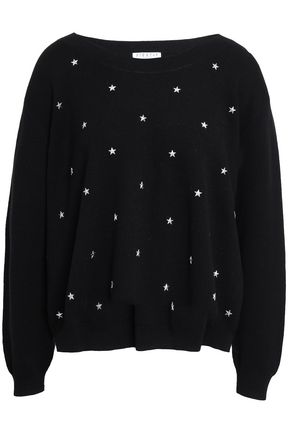 CLAUDIE PIERLOT Studded cotton-blend sweater