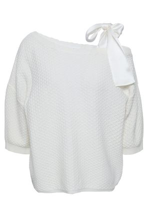 CLAUDIE PIERLOT Bow-embellished cotton sweater