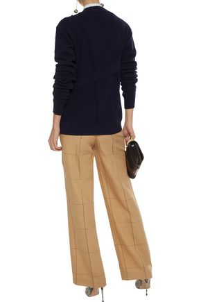 ROKSANDA Asymmetric merino wool-blend cardigan