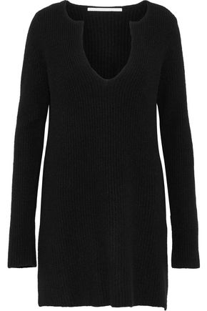 ROSETTA GETTY Ribbed cashmere tunic