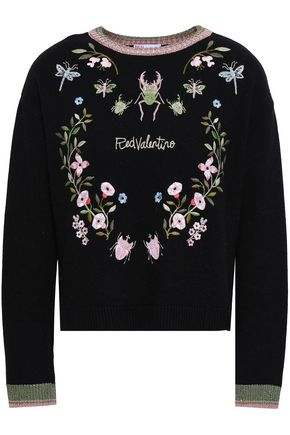 REDValentino Embroidered knitted sweater