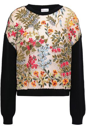 REDValentino Embroidered wool sweater