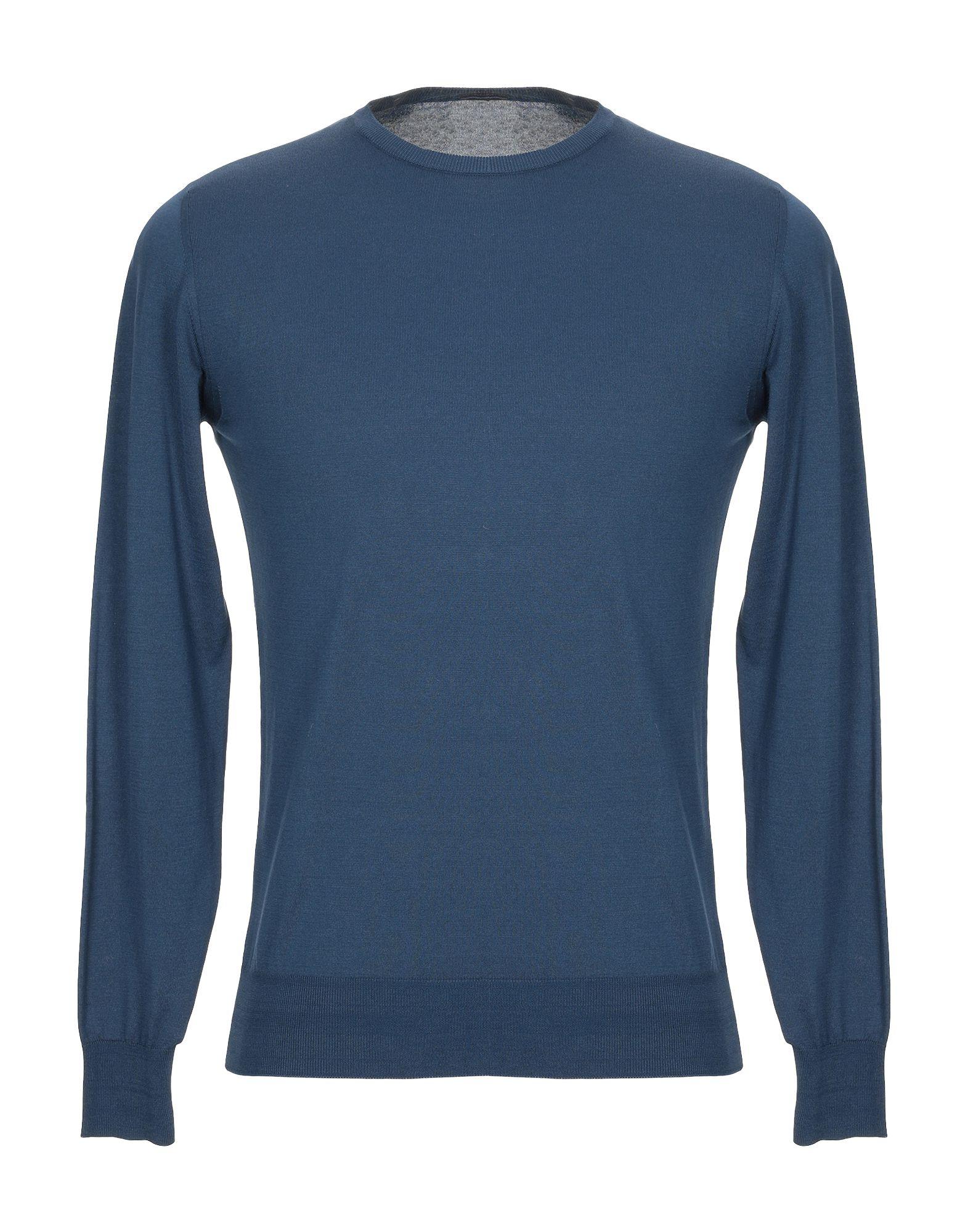 《送料無料》MICHI D'AMATO メンズ プルオーバー ブルー 48 コットン 100%