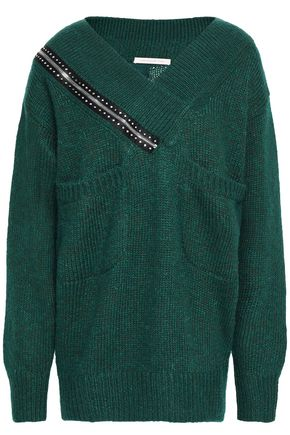 CHRISTOPHER KANE Embellished ribbed-knit sweater