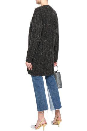 CHRISTOPHER KANE Embellished ribbed wool-blend cardigan