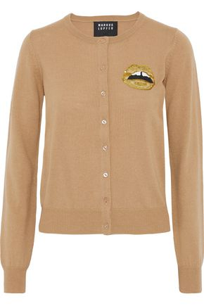 MARKUS LUPFER April sequin-embellished merino wool cardigan