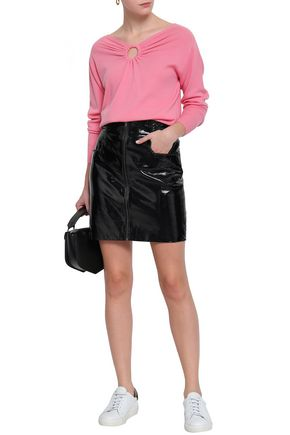 SANDRO Cutout wool and cashmere-blend sweater