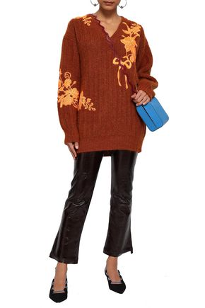 CHRISTOPHER KANE Embroidered wool-blend sweater