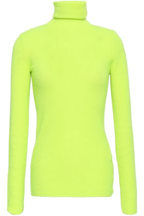 CHRISTOPHER KANE Neon cashmere turtleneck sweater