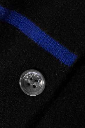 EQUIPMENT Button-detailed striped cashmere sweater