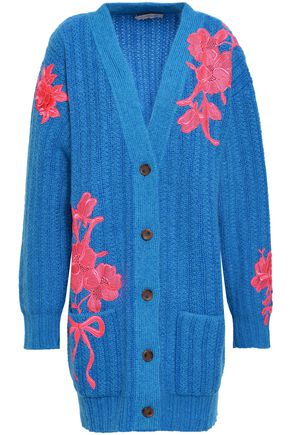 CHRISTOPHER KANE Embroidered wool-blend cardigan