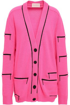 CHRISTOPHER KANE Zip-detailed cashmere cardigan