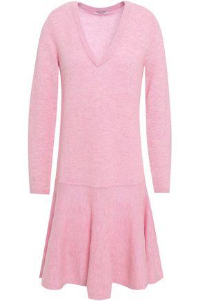 GANNI Mercer fluted merino wool-blend mini dress