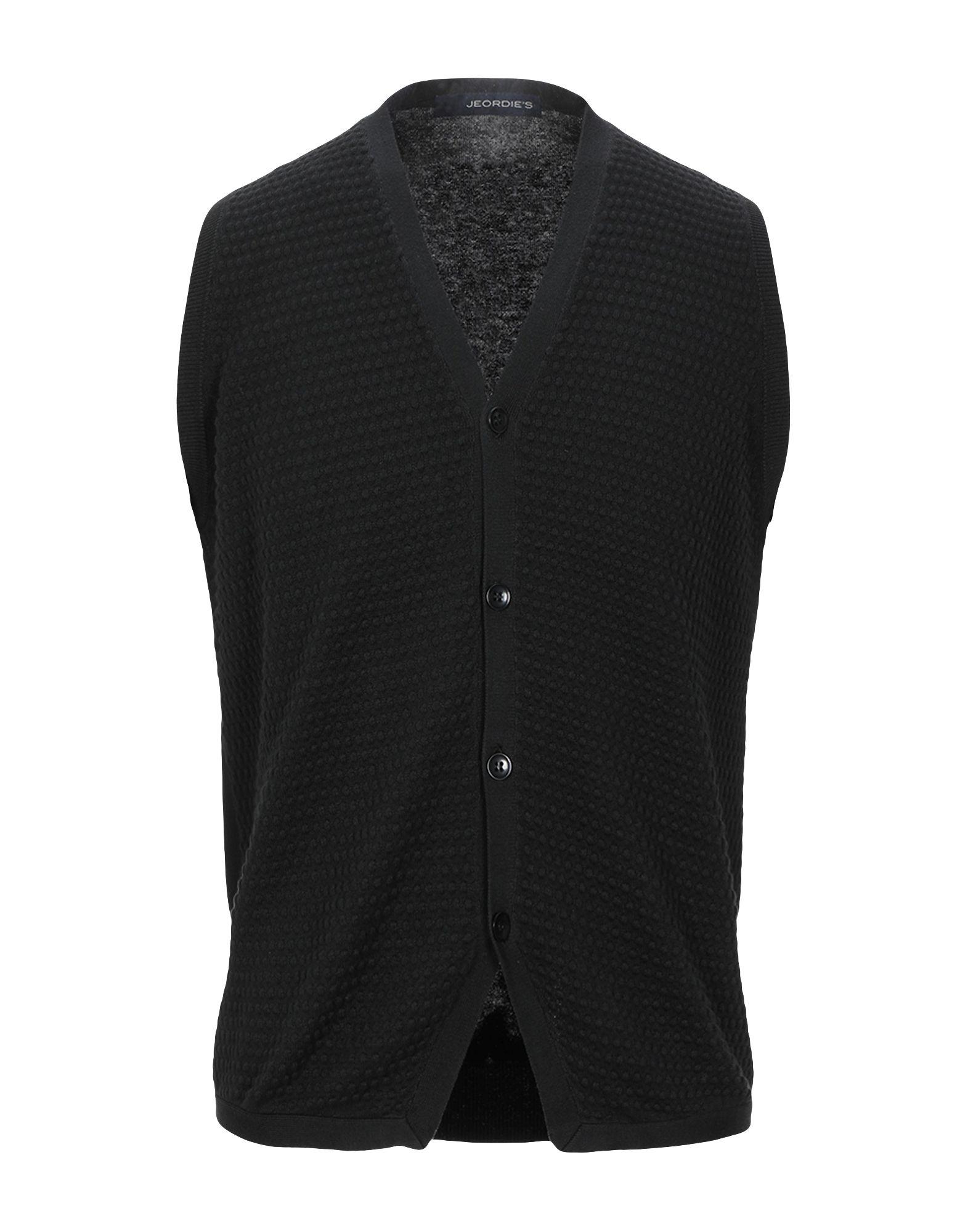 《セール開催中》JEORDIE'S メンズ カーディガン ブラック M コットン 100%