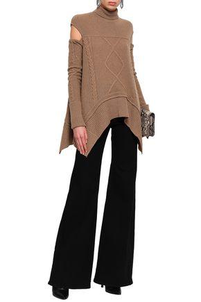 ROBERTO CAVALLI Cutout camel turtleneck sweater