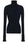 ROBERTO CAVALLI Metallic ribbed-knit turtleneck sweater
