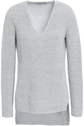 GENTRYPORTOFINO Metallic linen-blend sweater