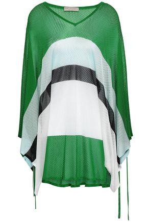 EMILIO PUCCI Striped pointelle-knit top
