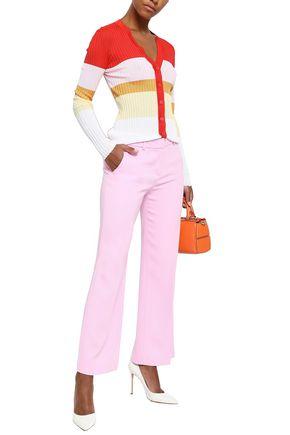 EMILIO PUCCI Color-block ribbed-knit cardigan