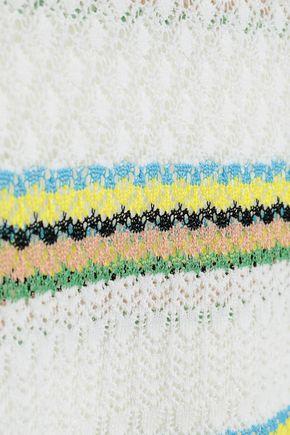SANDRO Pointelle-knit cotton-blend top